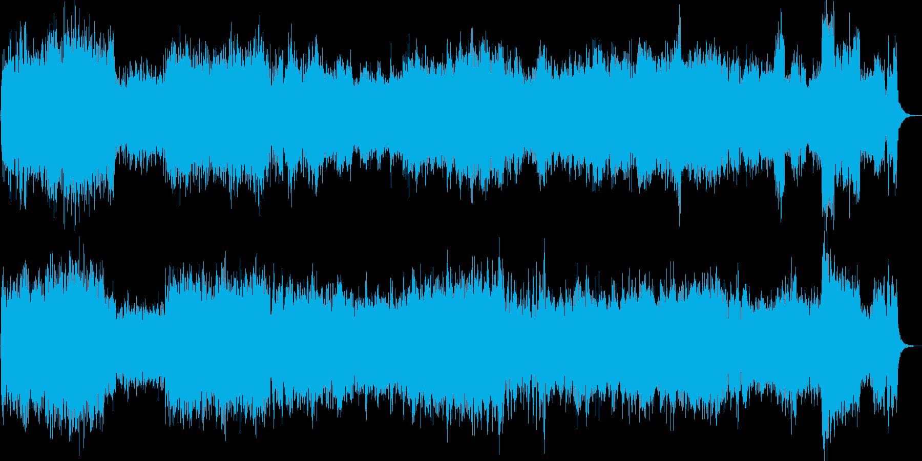 全編攻撃的なバイオリンが迸るストリングスの再生済みの波形