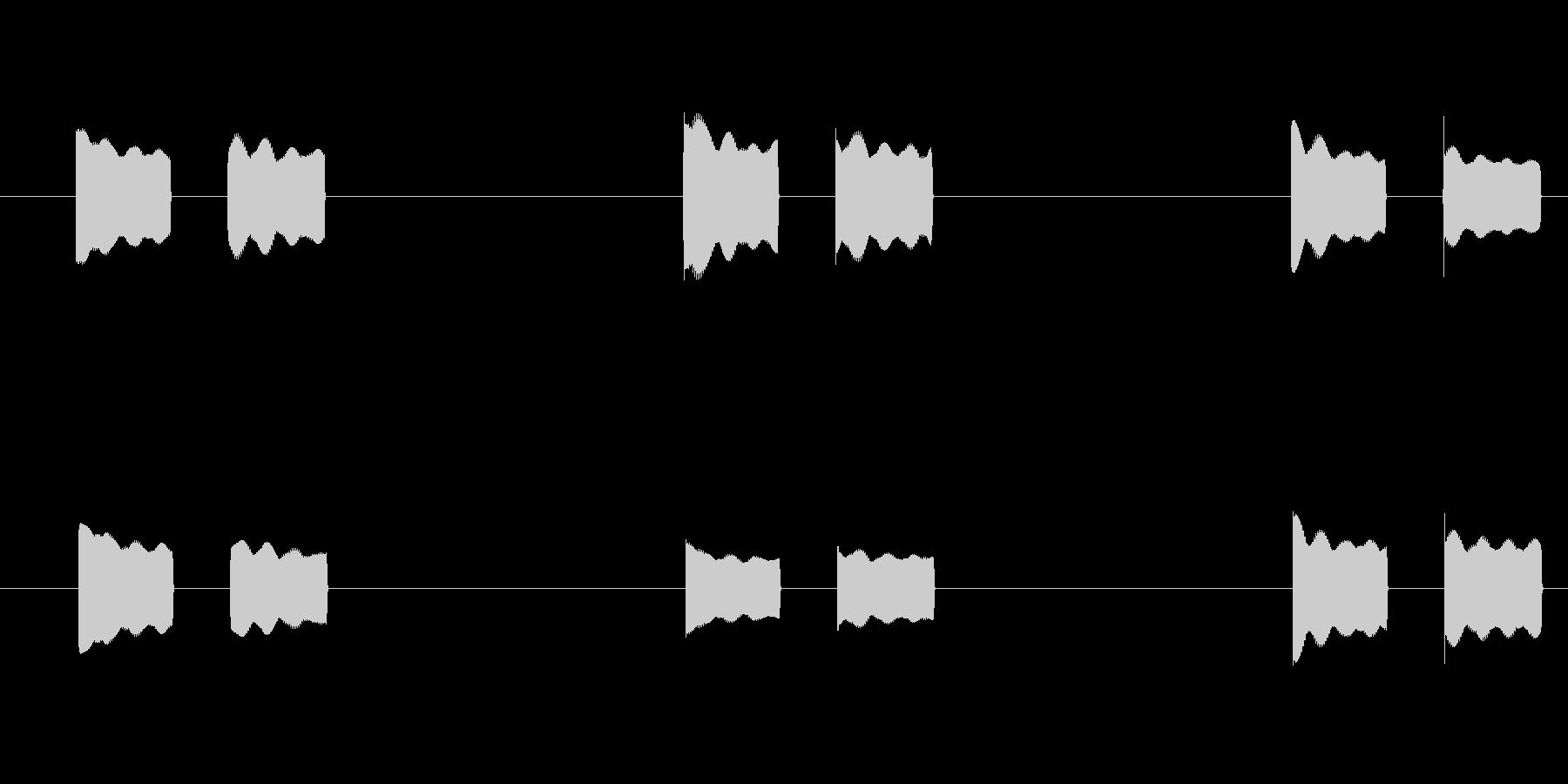 体温計 タイマー 電子音 ピピッピピッの未再生の波形