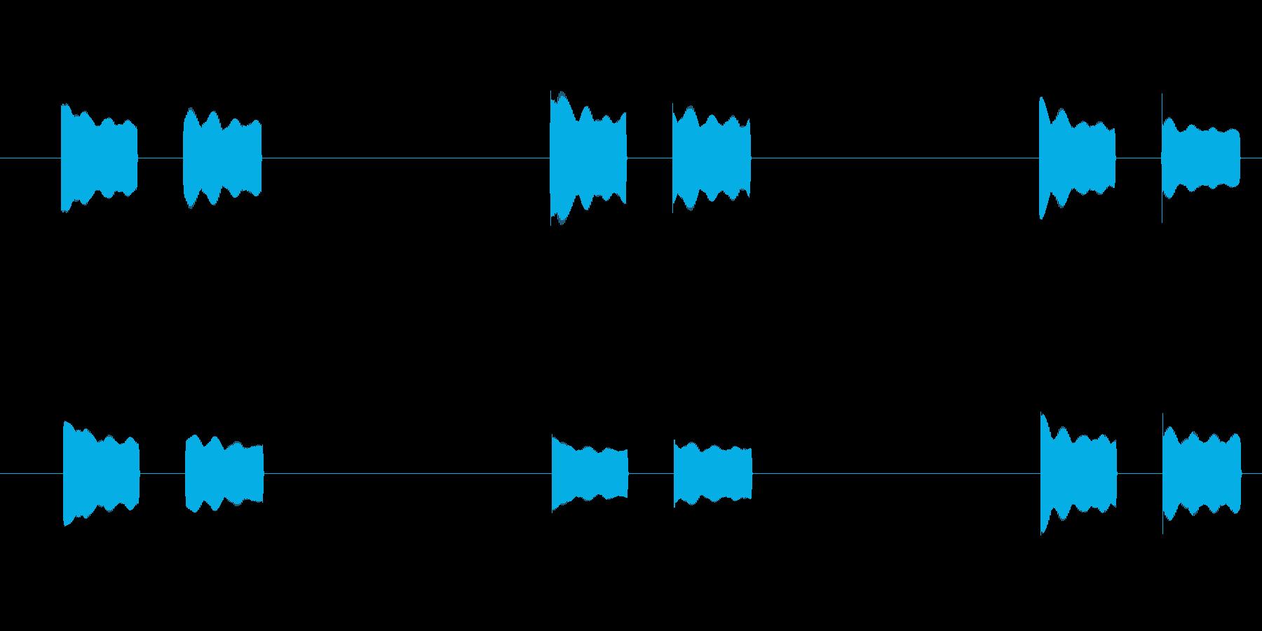体温計 タイマー 電子音 ピピッピピッの再生済みの波形