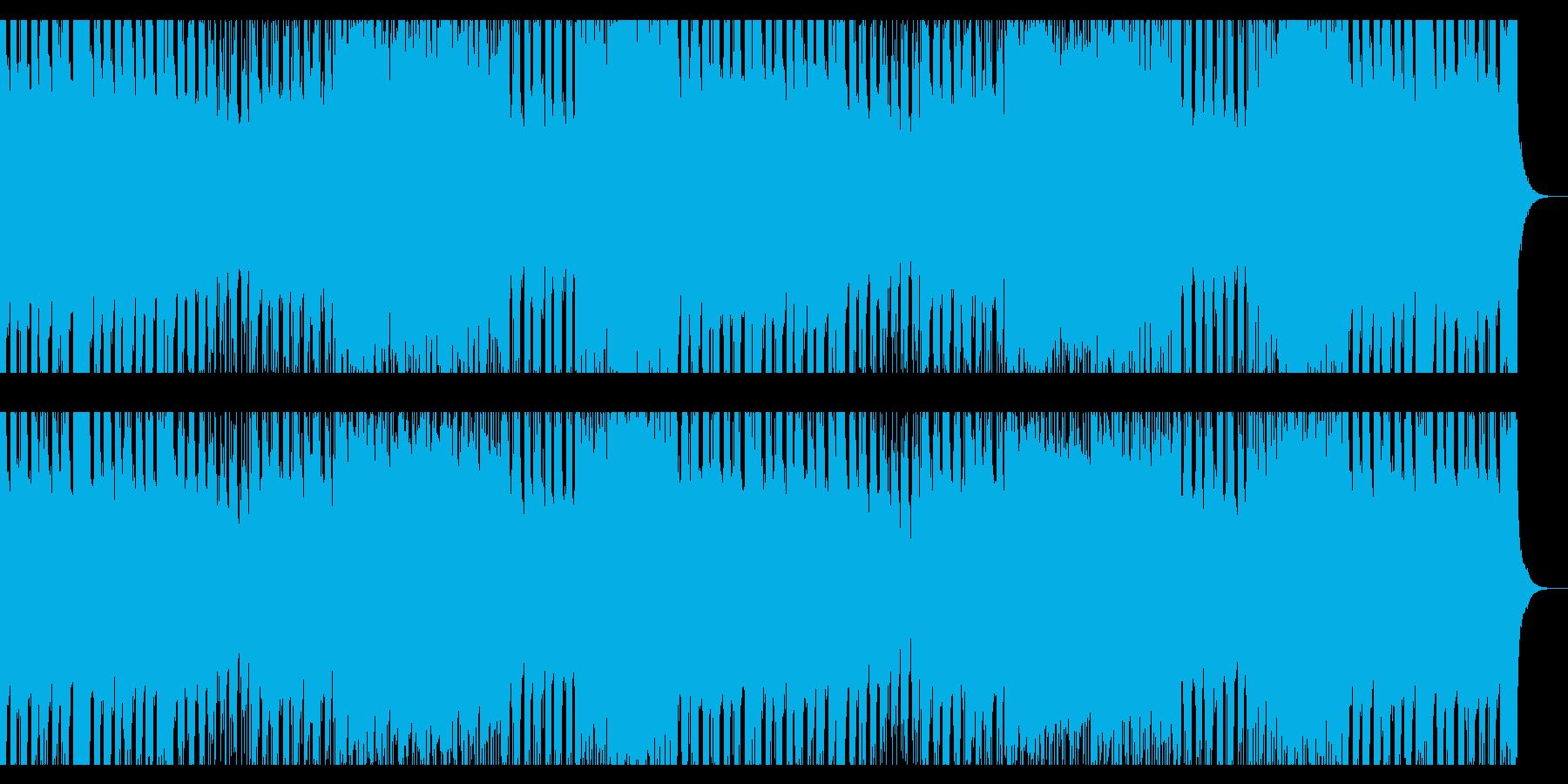 ハッピーでハイテンションなポップロックの再生済みの波形