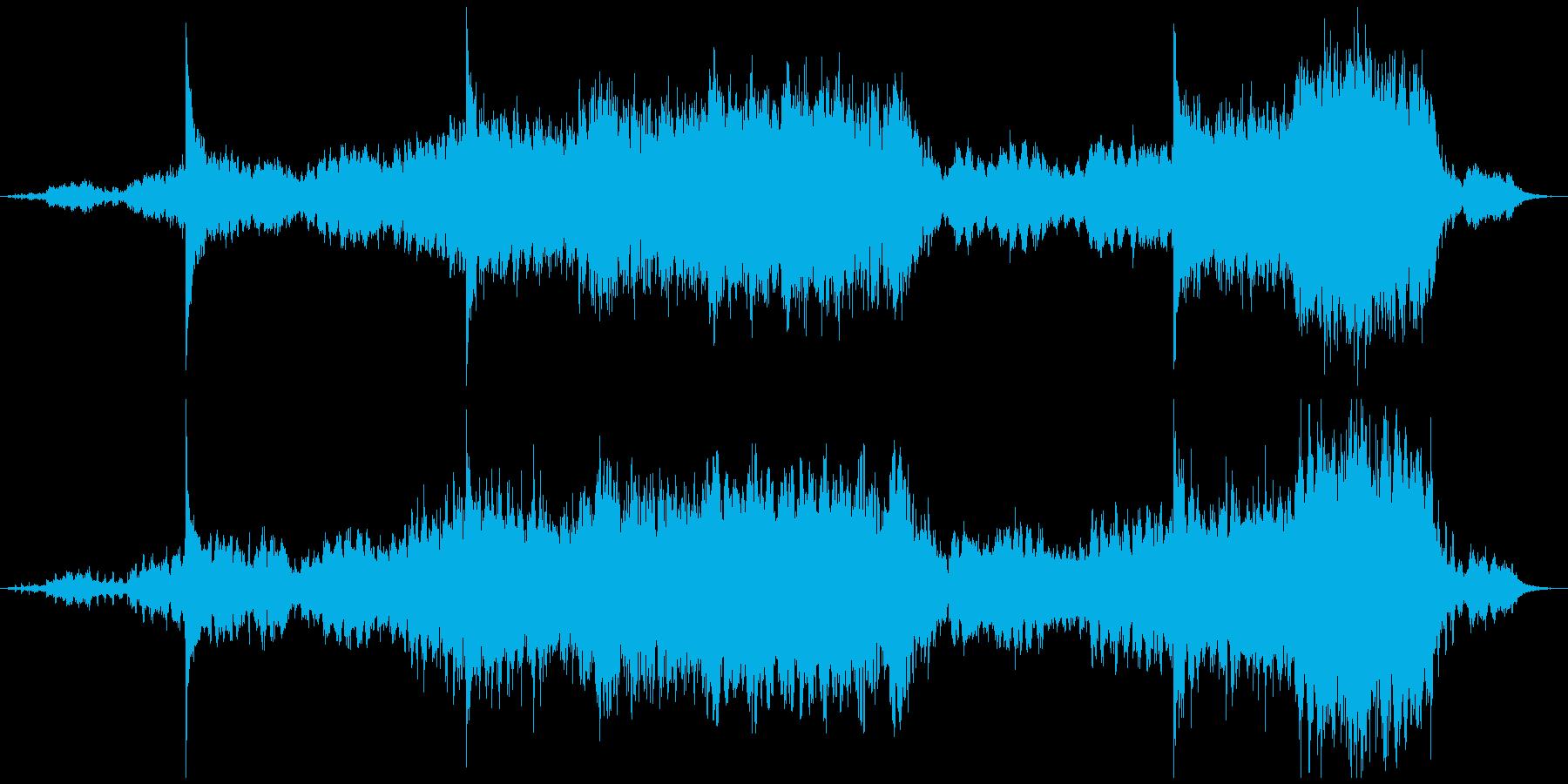 和楽器やシンセ等を使用したアンビエントの再生済みの波形