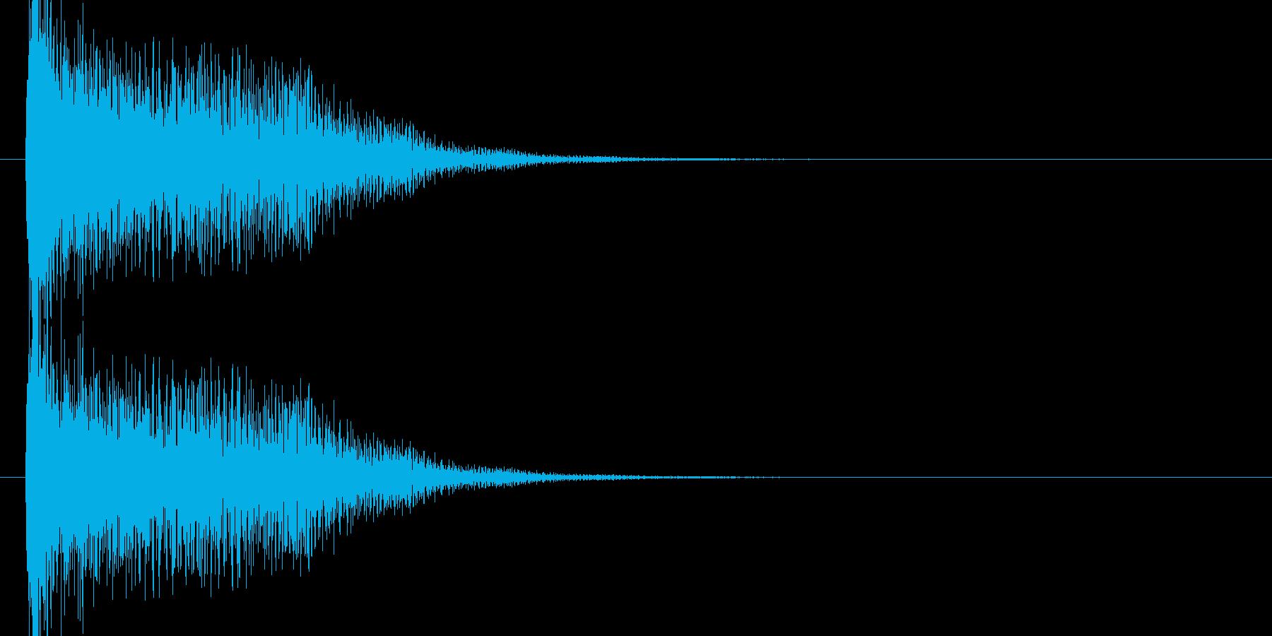 未来的なシンセのオケヒ起動 スタート音2の再生済みの波形