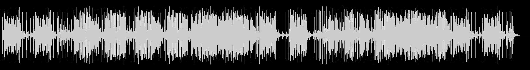 電子ピアノとドラムのパワフルなロックの未再生の波形