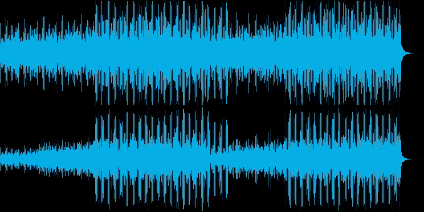 アコギとピアノ おしゃれで優しい映像用の再生済みの波形