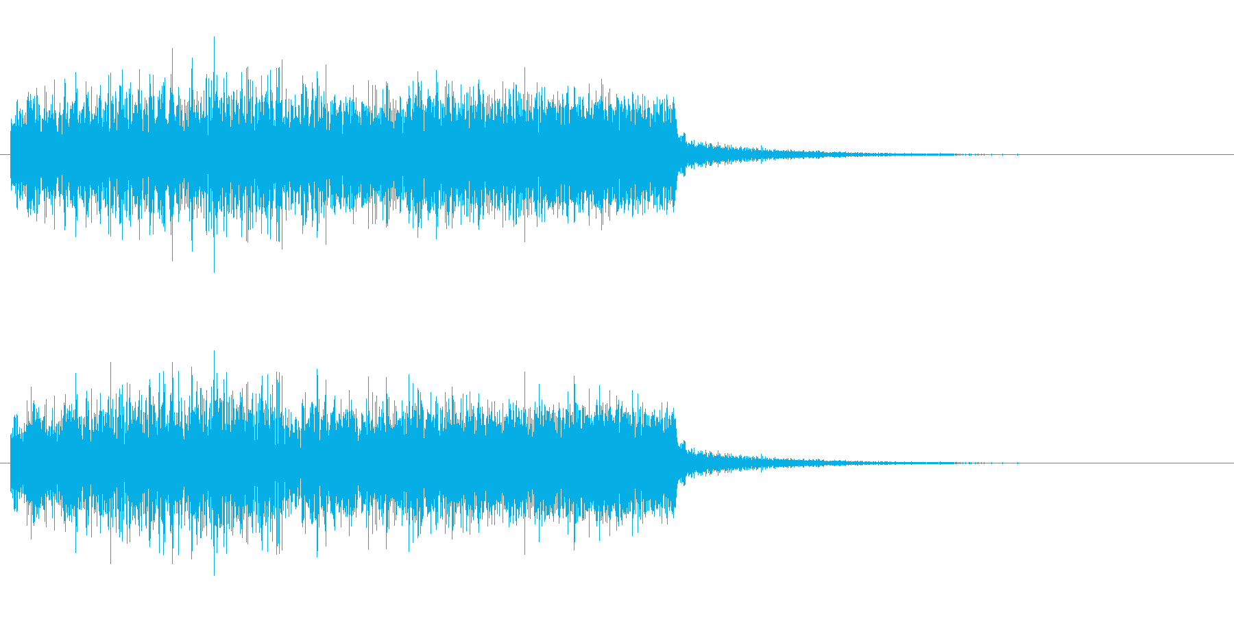 強めの風魔法の効果音(つむじ風有り)の再生済みの波形