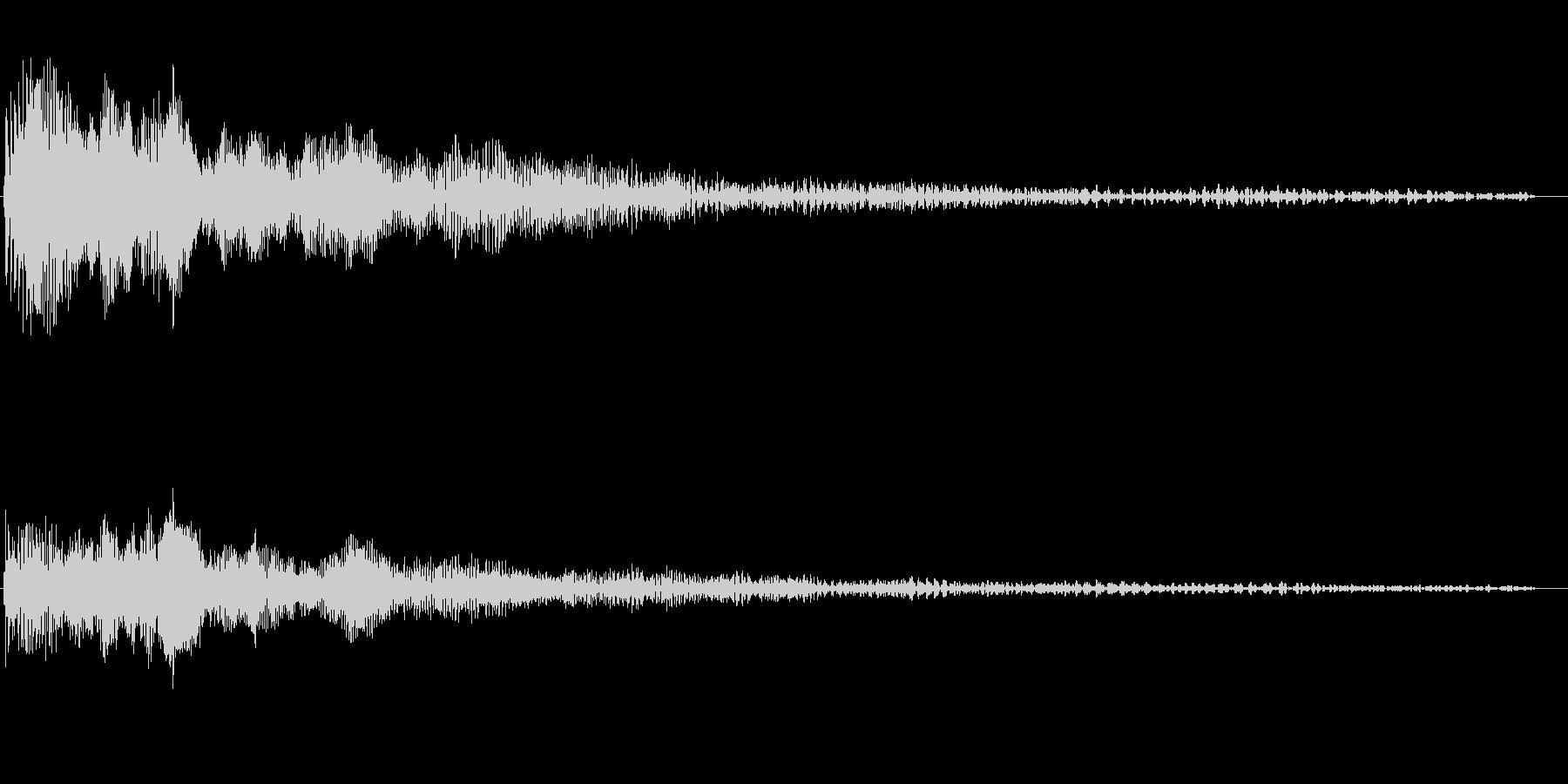 ヴィー(モーター回転開始から自然停止)の未再生の波形