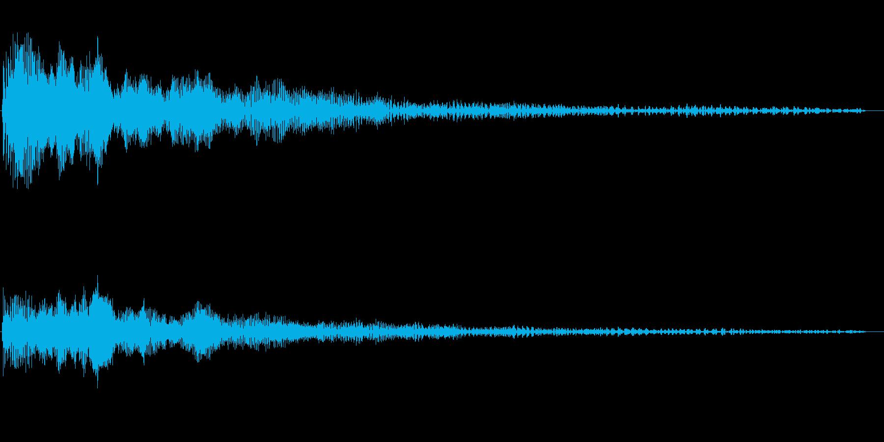ヴィー(モーター回転開始から自然停止)の再生済みの波形
