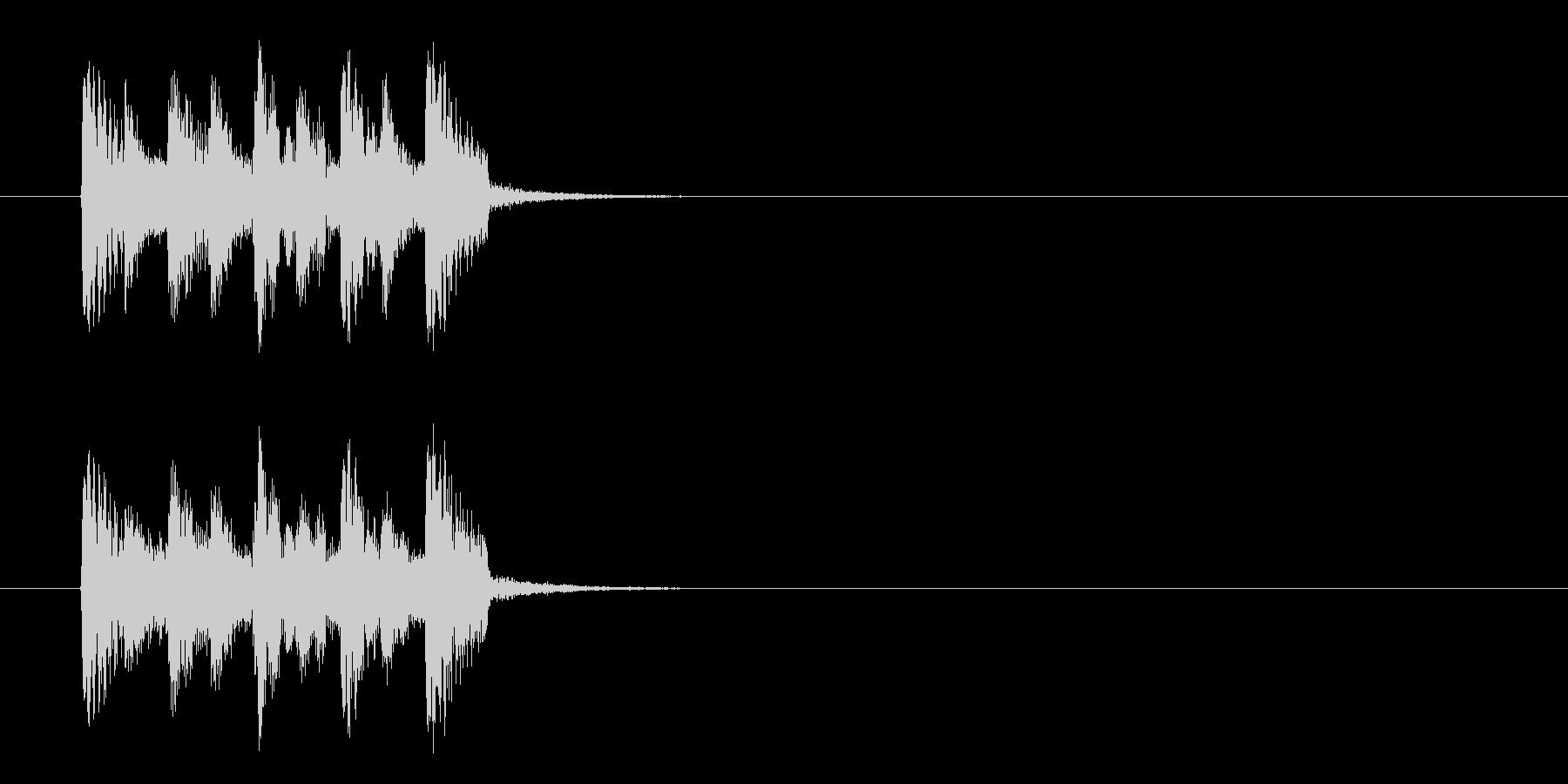コーナーエンド風インドのジングルの未再生の波形