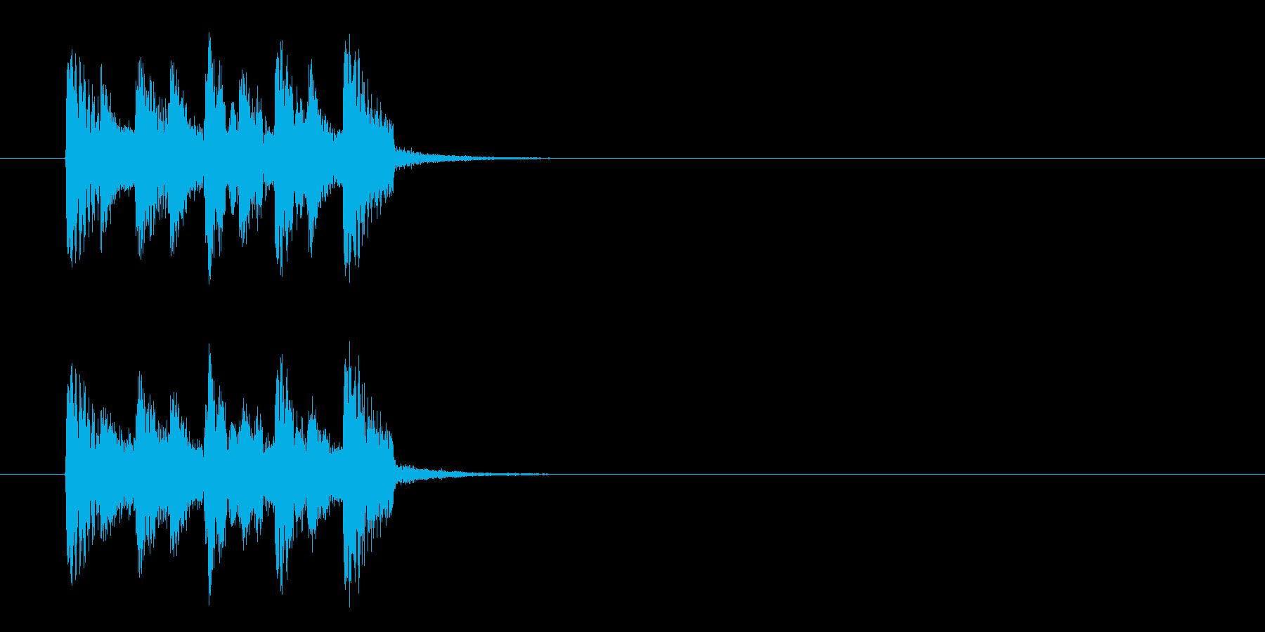 コーナーエンド風インドのジングルの再生済みの波形