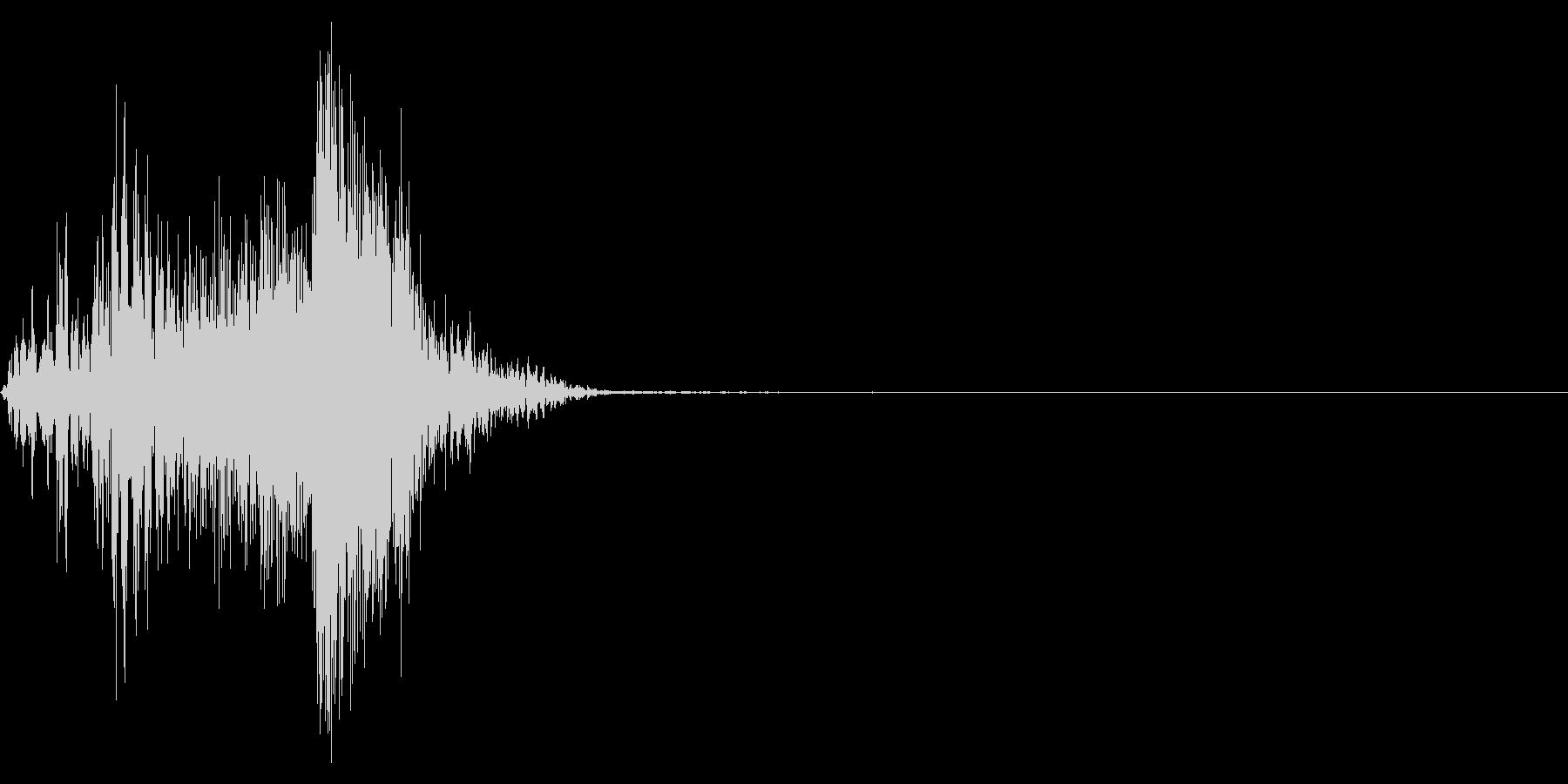 ジッパー、ファスナーを閉じる音1-1の未再生の波形