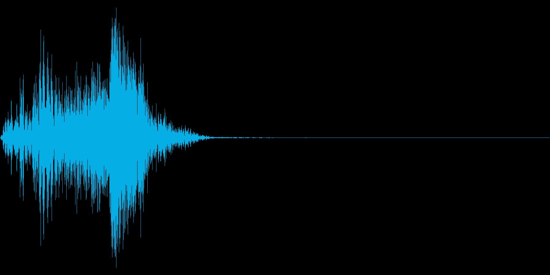 ジッパー、ファスナーを閉じる音1-1の再生済みの波形