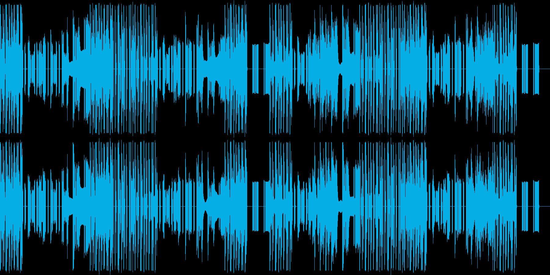 機械的な音楽ですの再生済みの波形