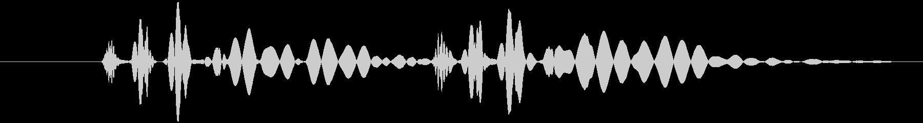 心臓 鼓動 単音の未再生の波形