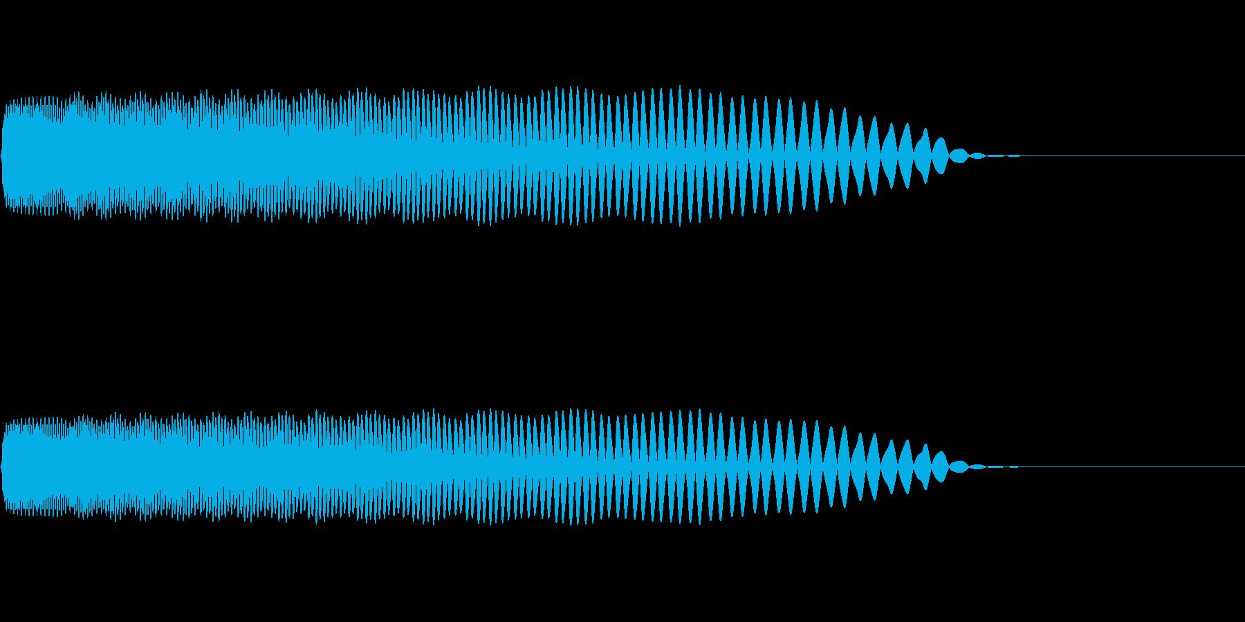 【SE 効果音】SF的な音12の再生済みの波形