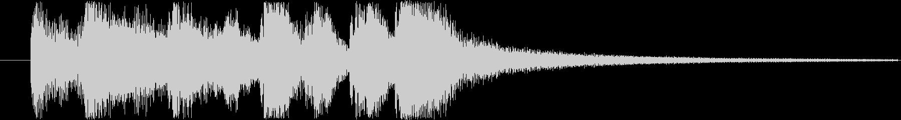 レベルアップやクリア時の効果音・SEの未再生の波形