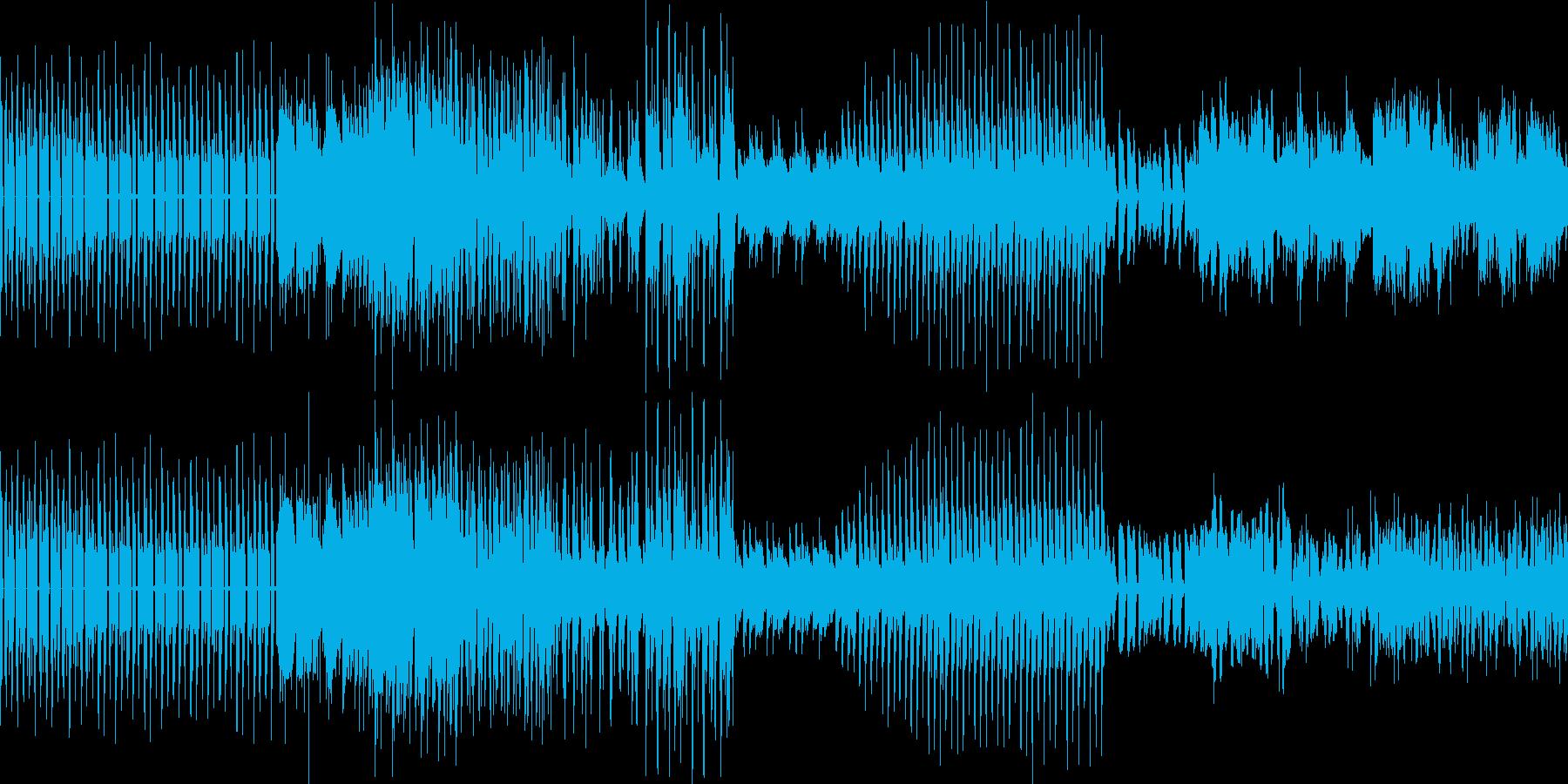 シンプルなダンステクノループの再生済みの波形
