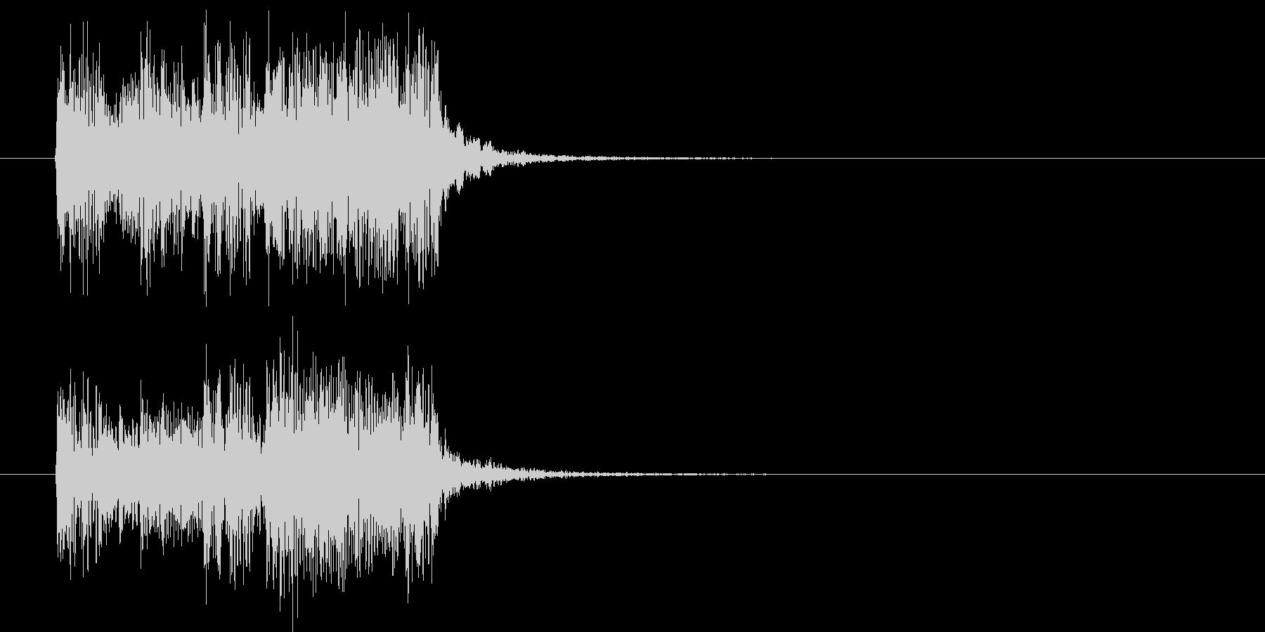 スピーディーでクールなエレキジングルの未再生の波形