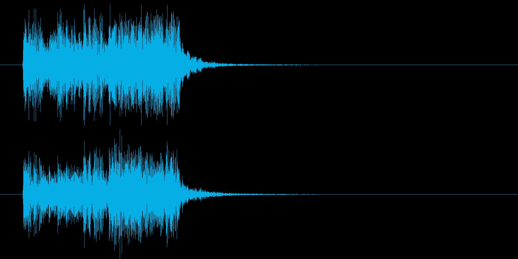 スピーディーでクールなエレキジングルの再生済みの波形