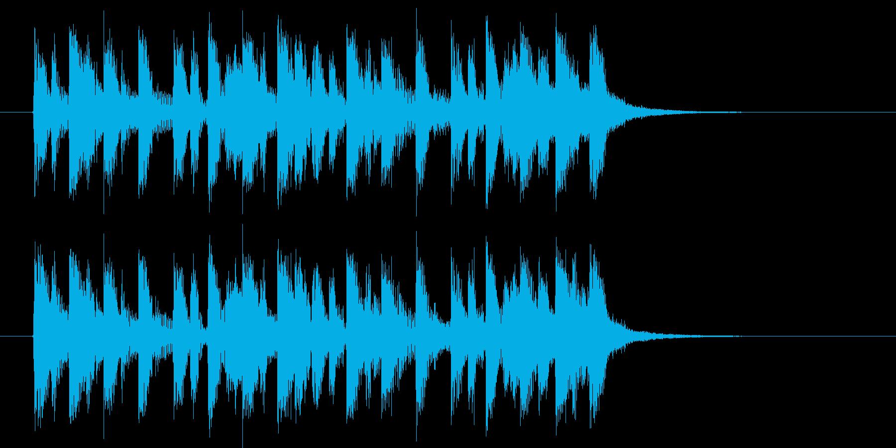 疾走感のあるポップスのジングル曲の再生済みの波形