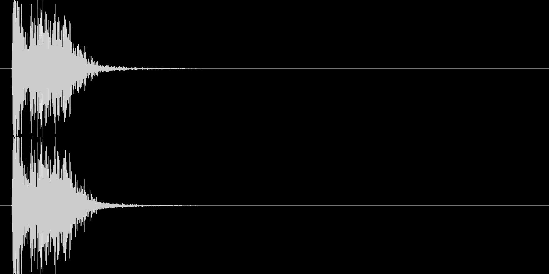 キュルキュルの未再生の波形