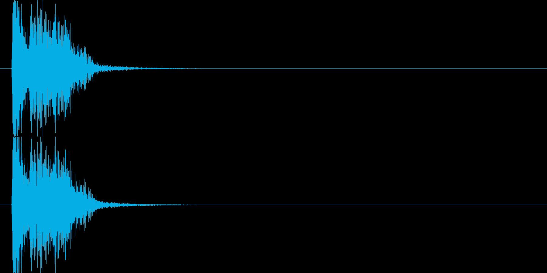 キュルキュルの再生済みの波形