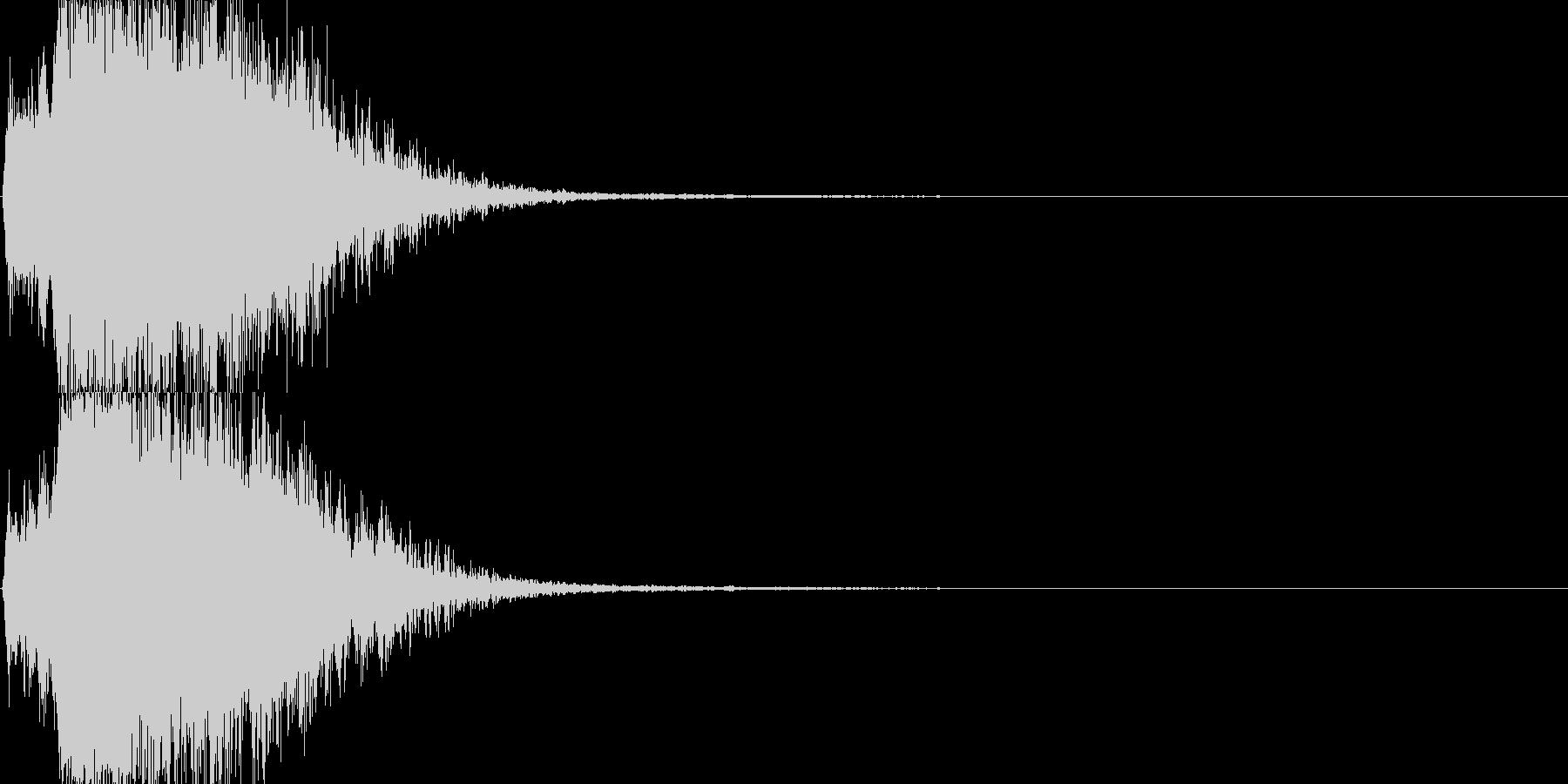 バフを掛けてステータスアップの未再生の波形