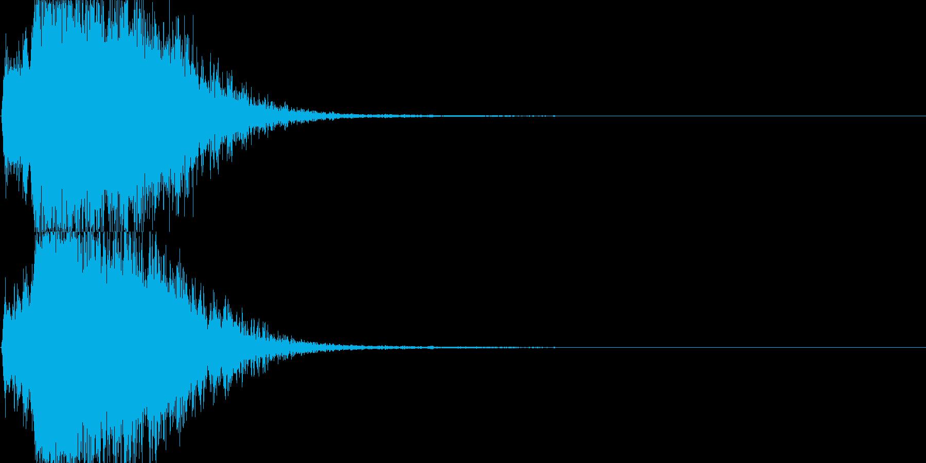 バフを掛けてステータスアップの再生済みの波形