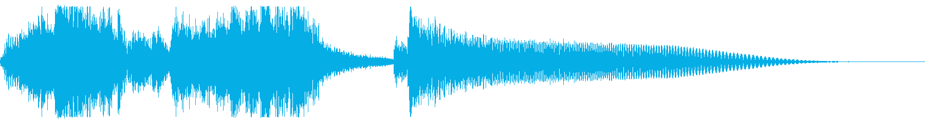 エレクトロみのある和風ジングルの再生済みの波形