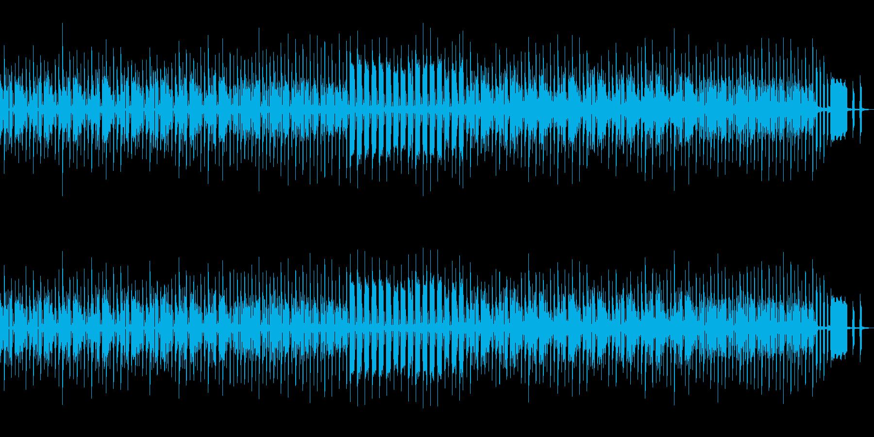 もちもちと歩く様な可愛いBGMの再生済みの波形