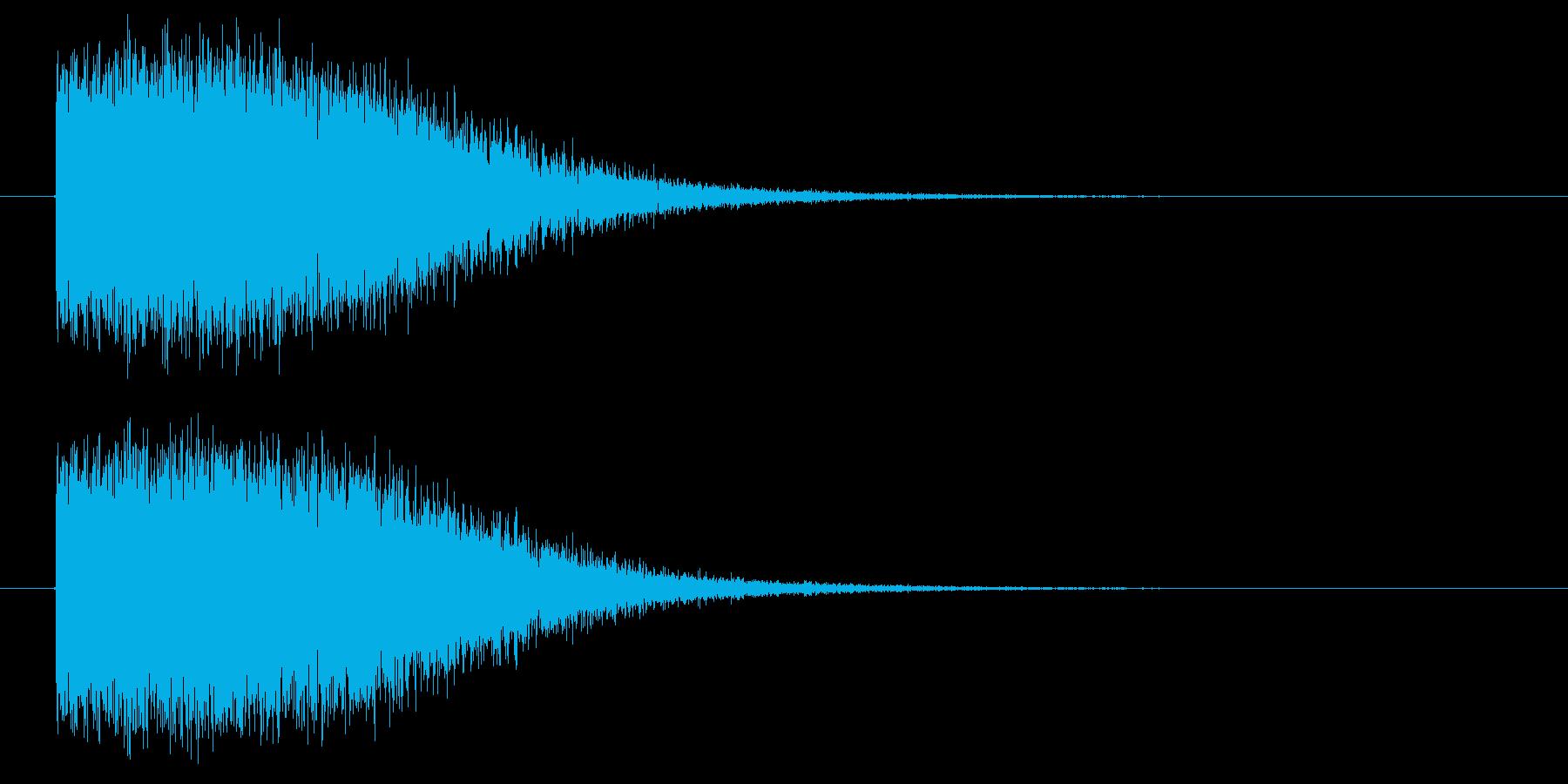 ピシャーン(落雷の音)の再生済みの波形