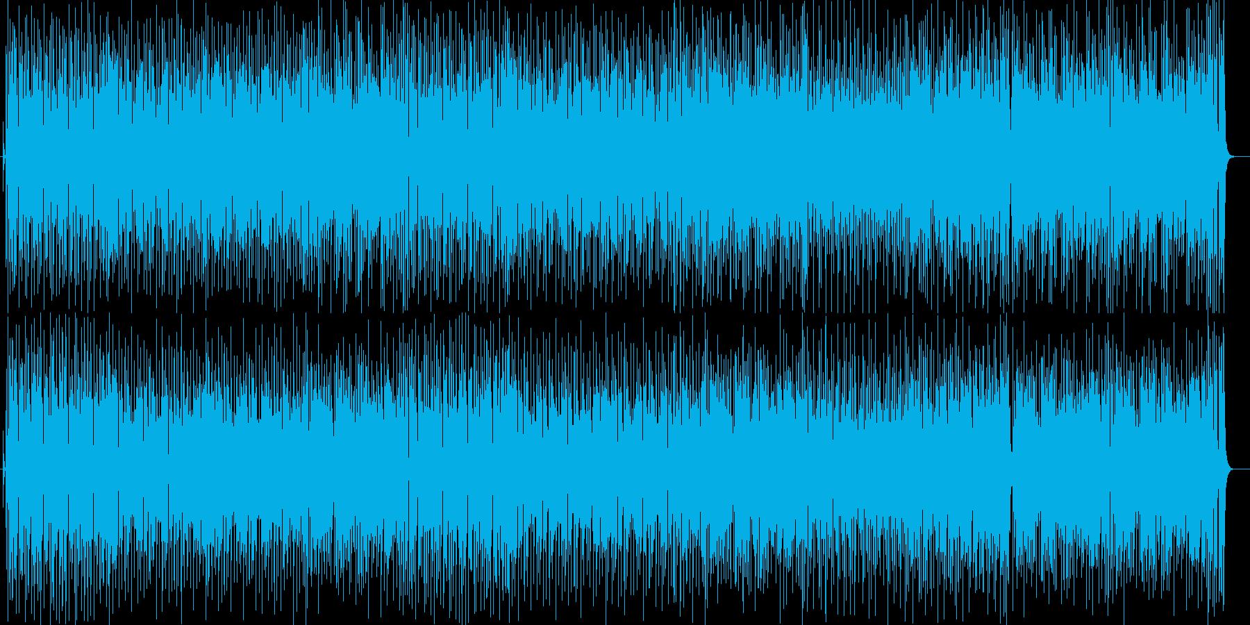 陽気なシンセ打楽器などの曲の再生済みの波形