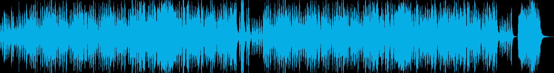 ほのぼの、フルート、ストリングスの再生済みの波形