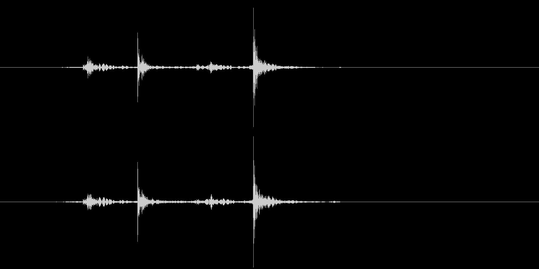 カタカタッ(キー入力、キーボード、電卓)の未再生の波形