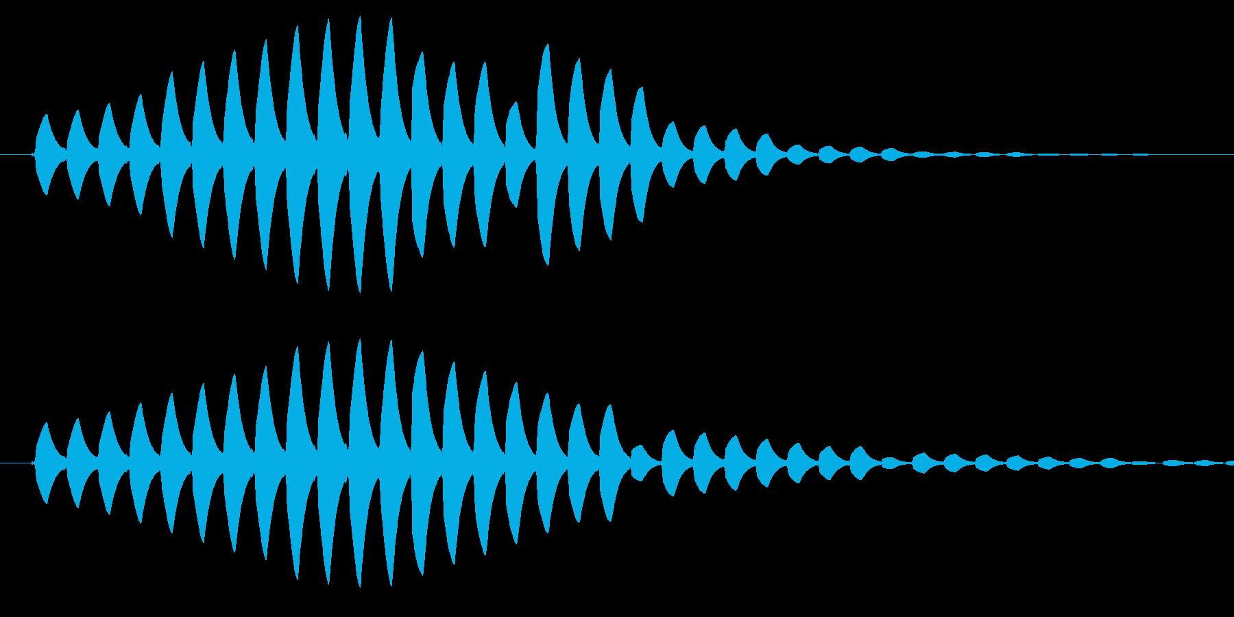 場面転換などで使われているようなピピピ音の再生済みの波形