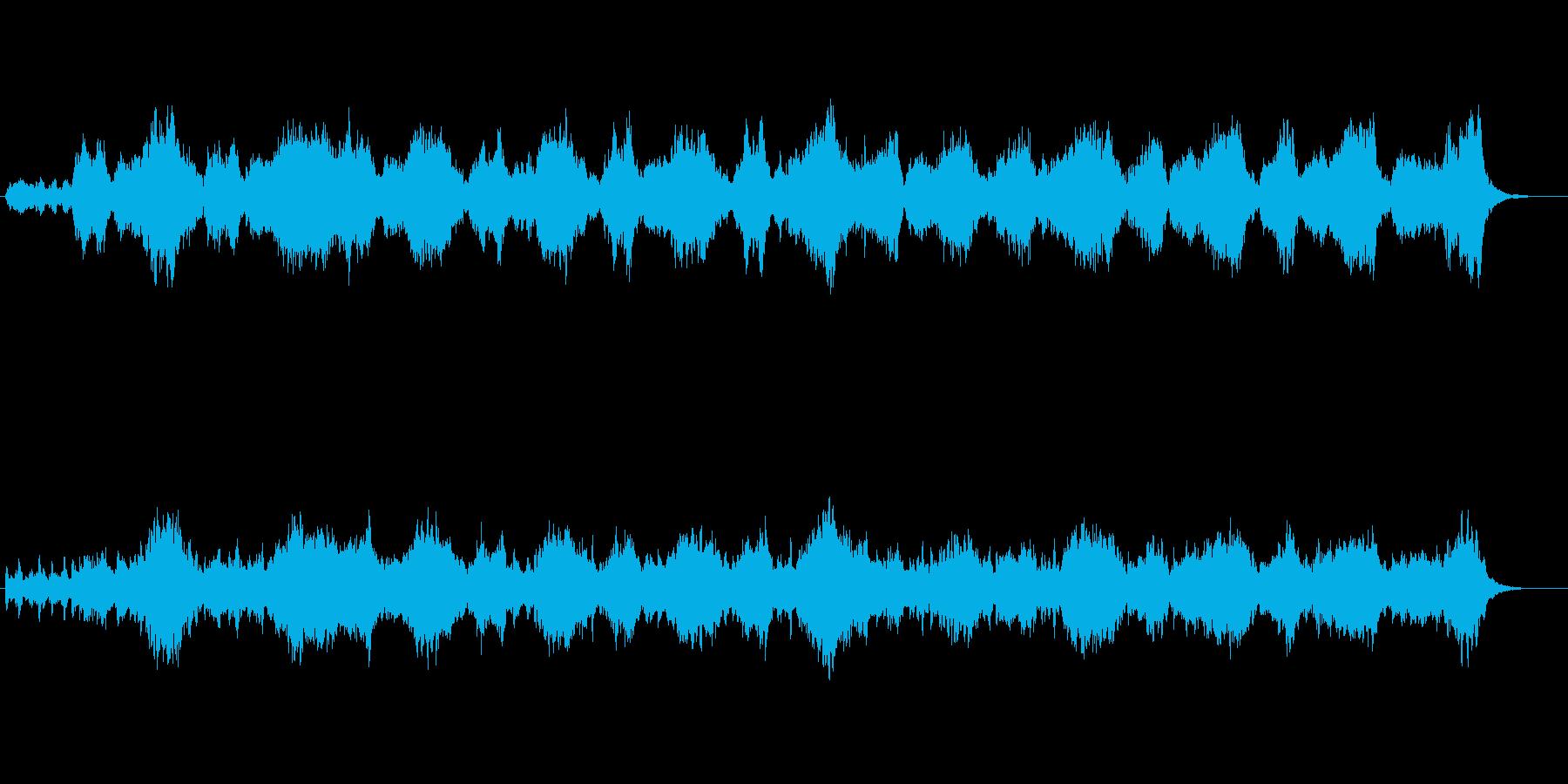 暗黒面、闇の深淵を描いたストリングス曲の再生済みの波形