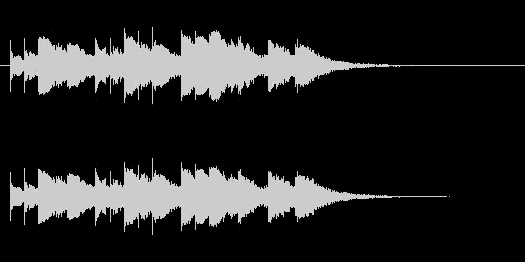ブラームスの子守唄のオルゴールの未再生の波形