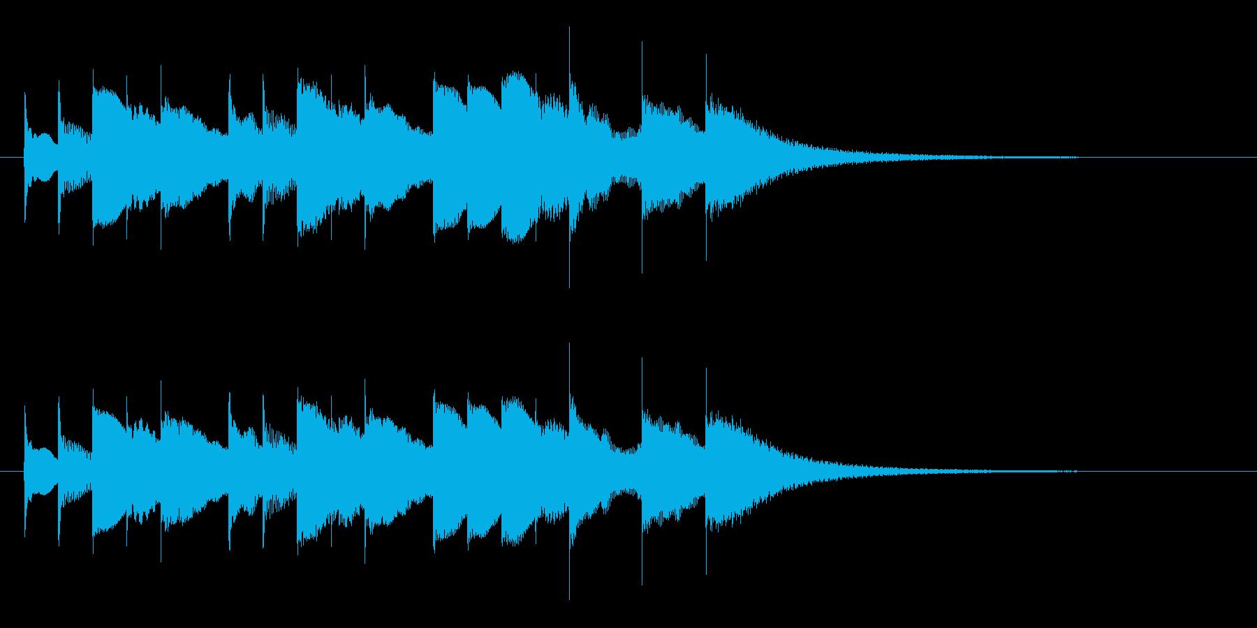 ブラームスの子守唄のオルゴールの再生済みの波形