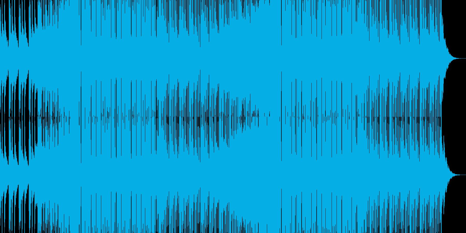 シンセ音が特徴的なハウスミュージックの再生済みの波形