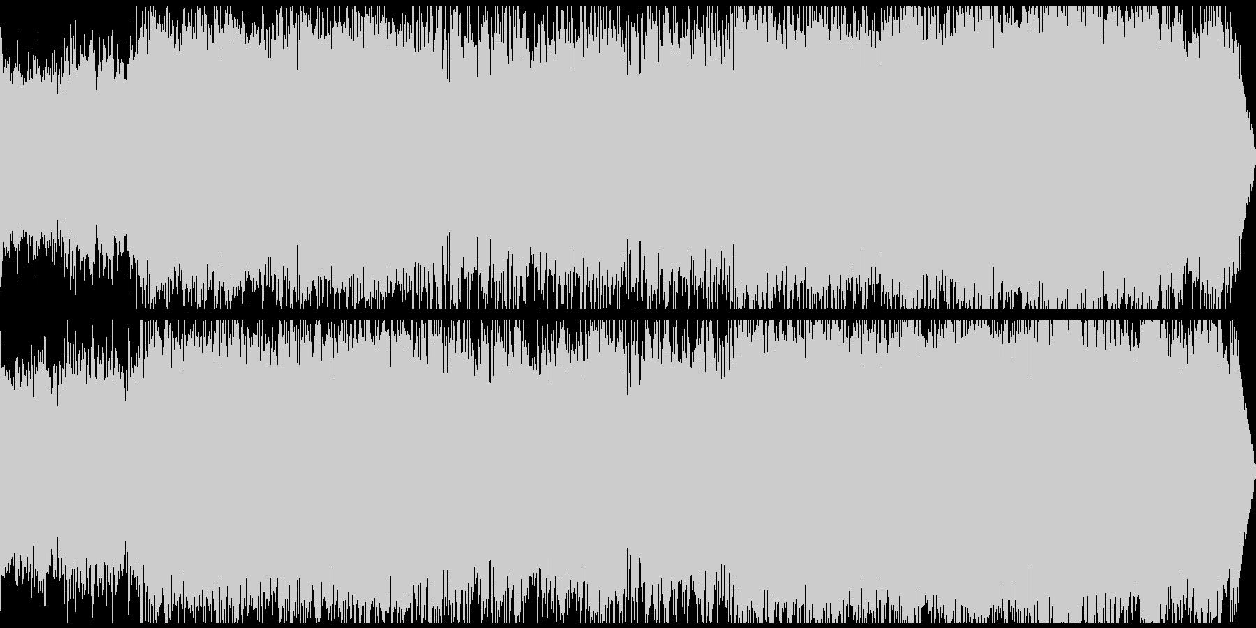 不思議で淋しげなフォーク(ループ)の未再生の波形