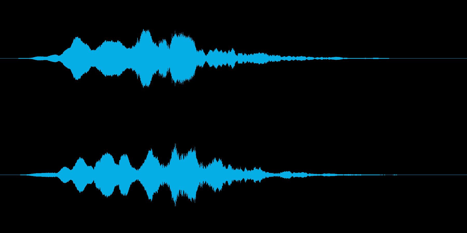 ヒューーーン!通過音の再生済みの波形
