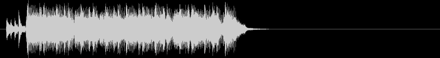 ハード・ブギー風ロックなジングルの未再生の波形
