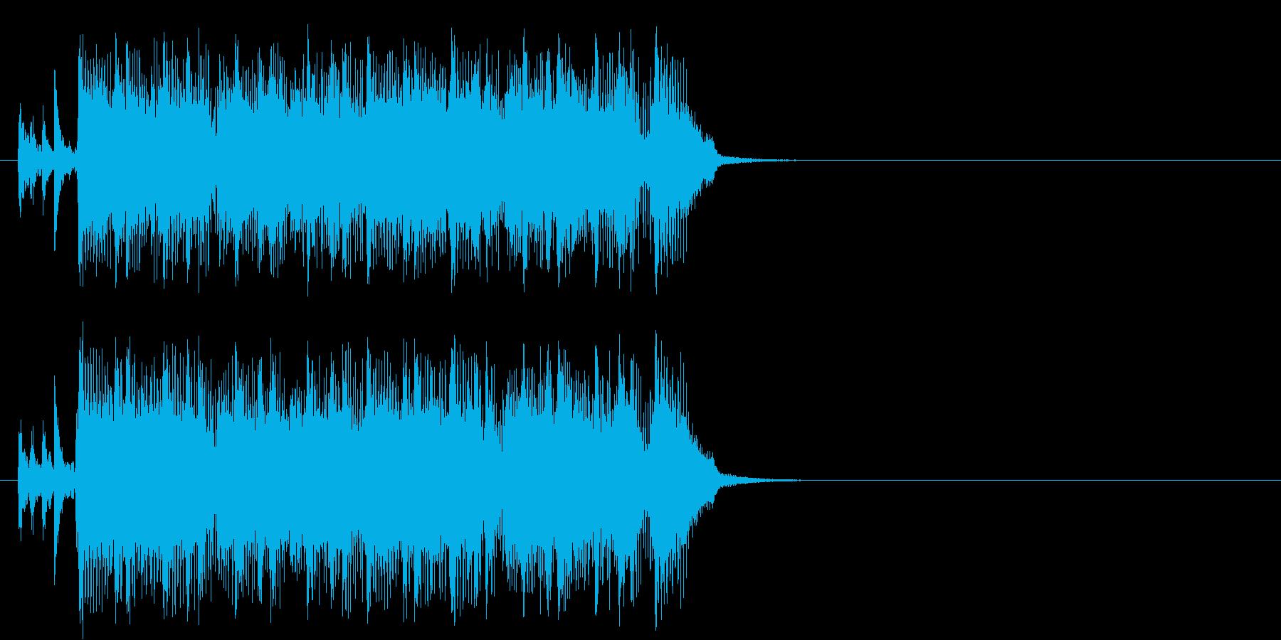 ハード・ブギー風ロックなジングルの再生済みの波形
