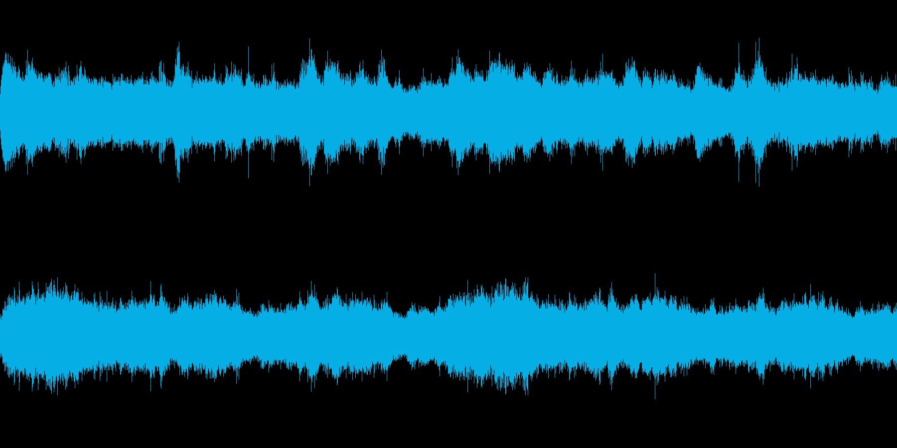 ホラー系に使えるドローン・ノイズのBGMの再生済みの波形