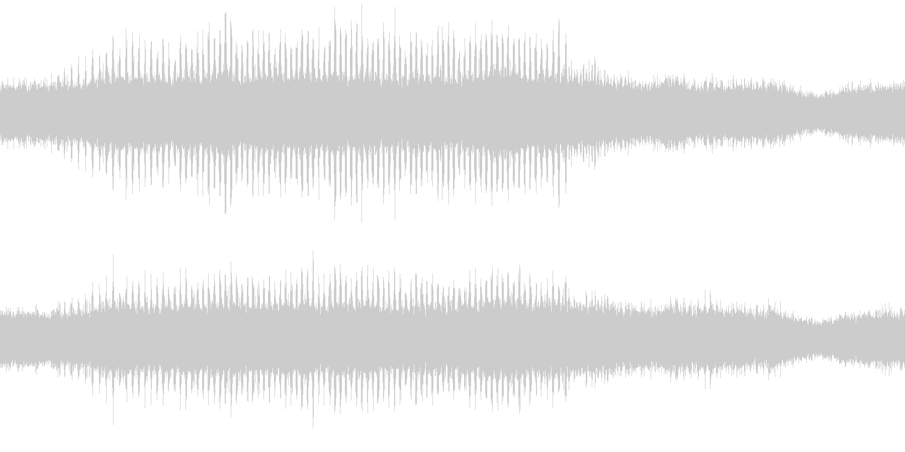 環境音蝉の鳴き声ミンミン30秒ループ処理の未再生の波形