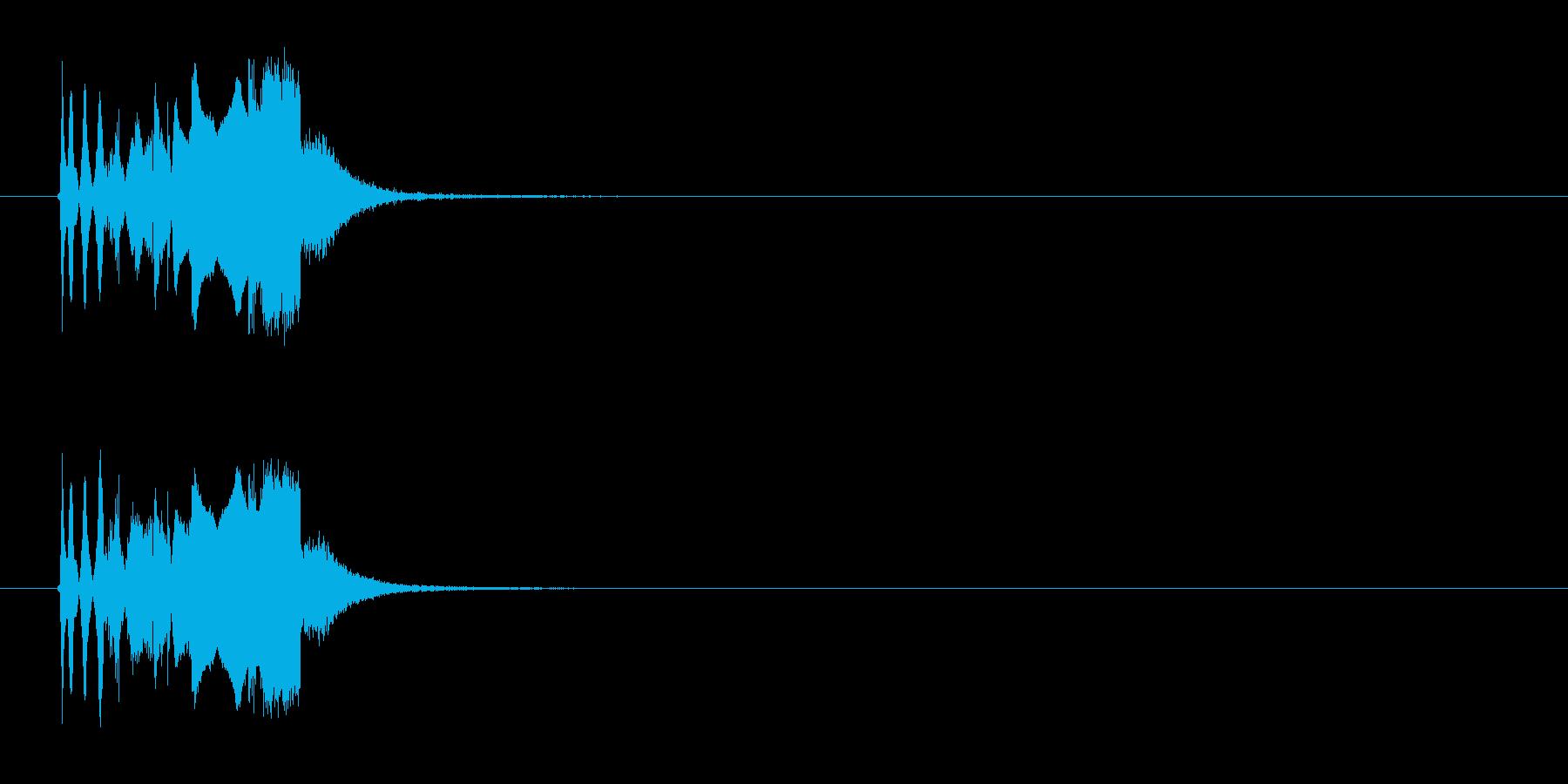 ピピピッシュンシュローン(終了音)の再生済みの波形