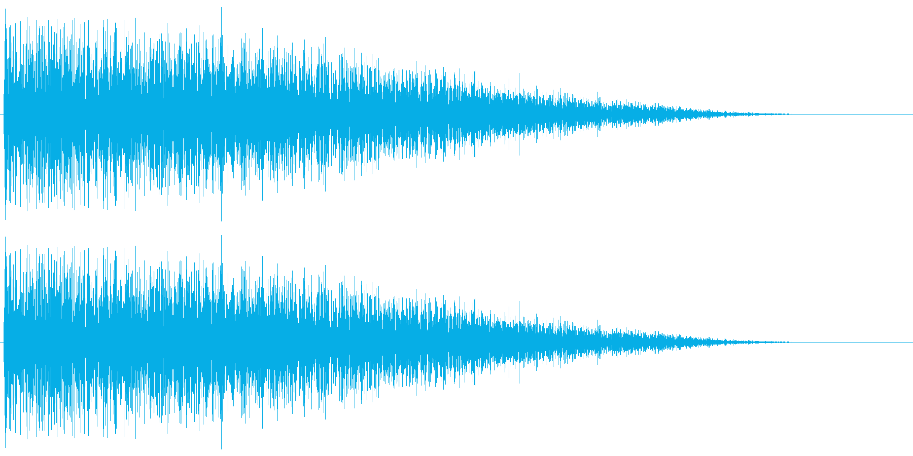 昭和の特撮にありそうな衝撃音の再生済みの波形