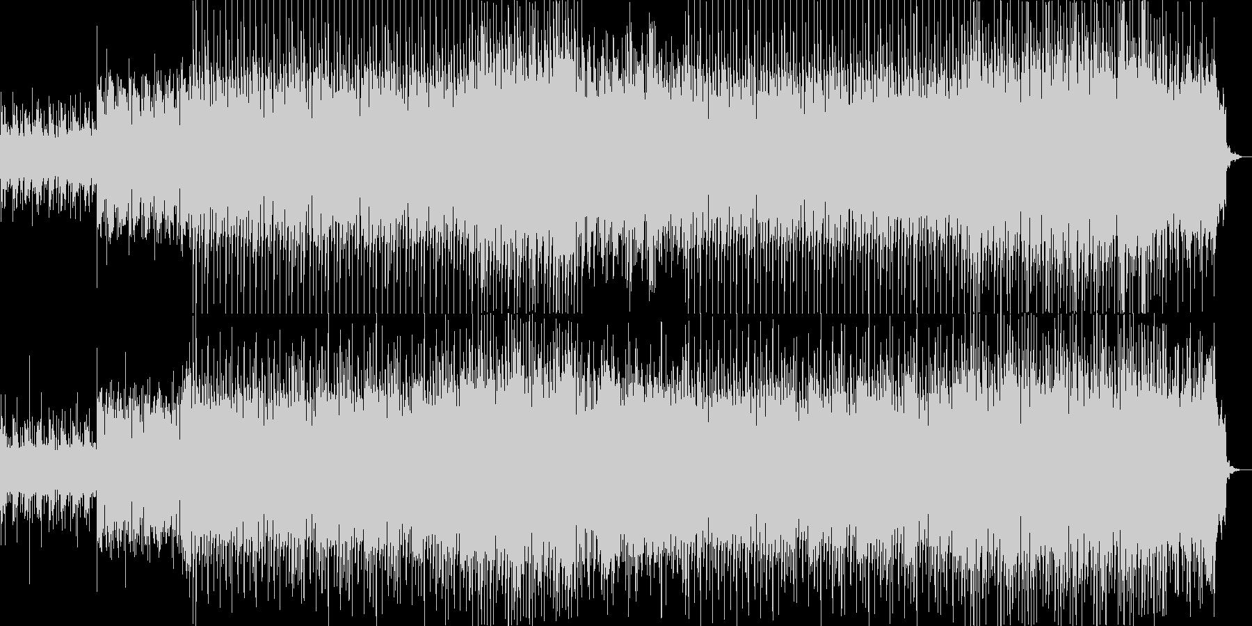 躍動的なポップハウス曲の未再生の波形