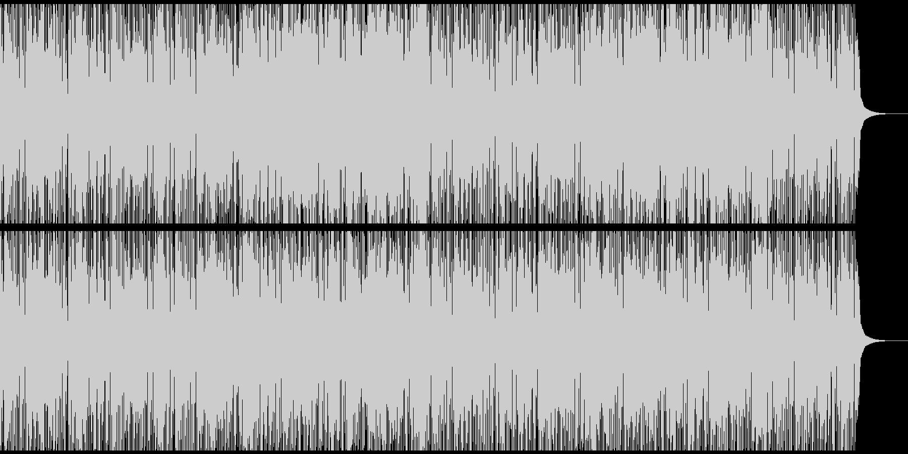 怪しいスラップベースのトラップ系BGMの未再生の波形