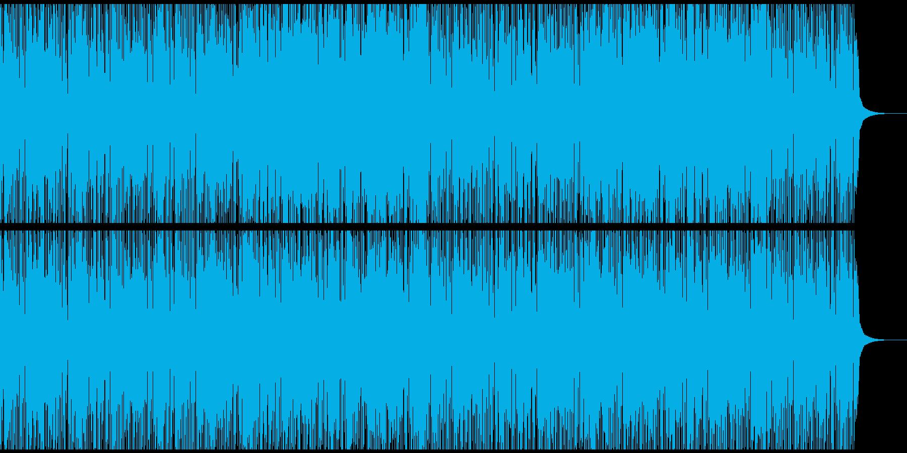 怪しいスラップベースのトラップ系BGMの再生済みの波形