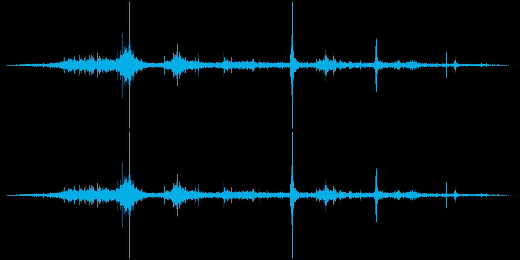 リンゴを食べる音の再生済みの波形